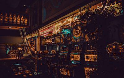 Techniek achter een machine in het casino